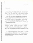 [Message from Esther Raushenbush to the Students, April 4, 1969] by Esther Raushenbush
