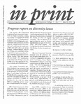 [In Print, Progress report on diversity issues, May 15, 1991]