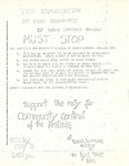 [Announcement of Protest at Lynd House Against the Institute for Community Studies, May 12, 1969] by [Unknown]